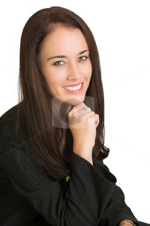 Business Woman #531 stock photo, Portrait of a brunette business woman, smiling by Sean Nel