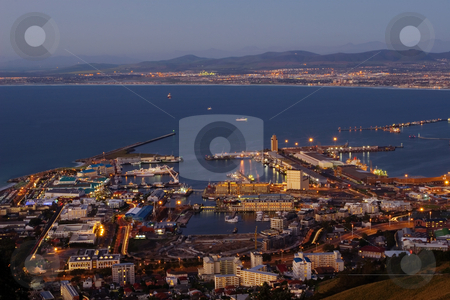 Cape Town view #3 stock photo, Veiw at night of Cape Town, South Africa by Sean Nel
