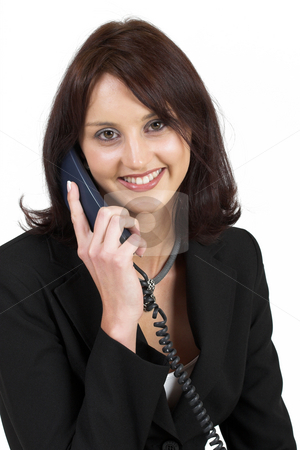 Business Lady #52 stock photo, Business woman on the telephone by Sean Nel
