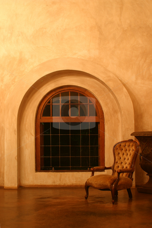 Victorian Chair stock photo, Victorian Chair in Tuscan Villa by Sean Nel