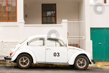 Car #1 stock photo, White Volkswagen Beatle by Sean Nel
