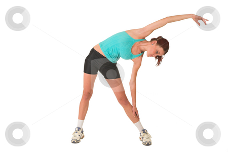 Gym #122 stock photo, Woman stretching. by Sean Nel