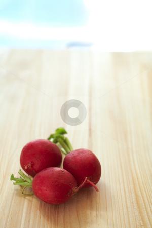 Fresh vegetables on cutting boardFresh vegetables on cutting bo stock photo, Fresh radish on a wooden cutting board by Sean Nel