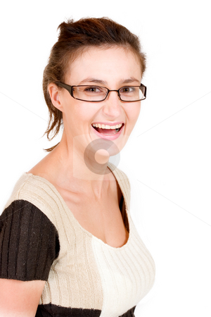 Business Lady #101 stock photo, Business woman with glasses by Sean Nel