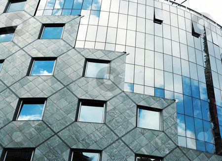 Vienna #73 stock photo, Steel and Glass building in Vienna, Austria - Blue Sky by Sean Nel