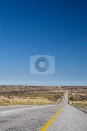 Cape roads #4 stock photo, Desolate road just outside Colesberg, South Africa by Sean Nel
