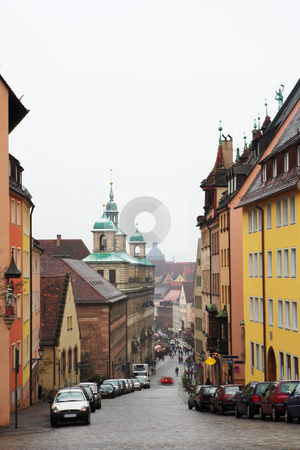 Munich #56 stock photo, Streets and buildings in Neurenburg - Munich.  Movement on cars driving. by Sean Nel