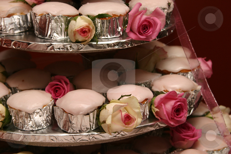 Pink cupcakes stock photo, Pink cupcakes asdessert at a wedding by Sean Nel