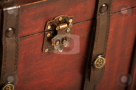 Suitcase#006 stock photo, Open treasure case on white background by Sean Nel