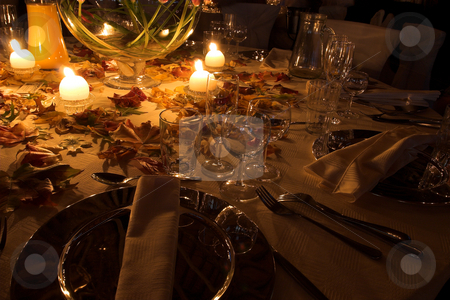 Tablesetting #1 stock photo, Tablesetting at Autmn wedding by Sean Nel