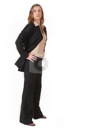 Business Lady #90 stock photo, Business woman in black and brown formal suit by Sean Nel