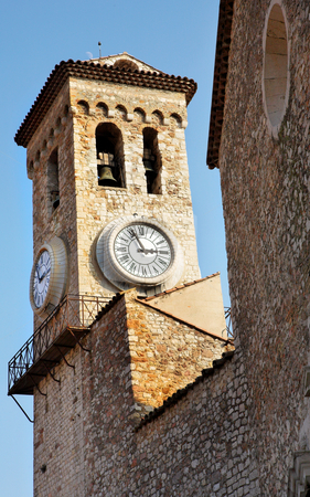 Cannes #35 stock photo, Clock tower on the La Tour Du Suquet in Cannes, France by Sean Nel
