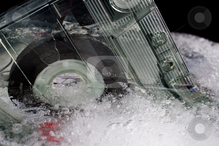 Ice and Tape #7 stock photo, Old tape frozen by Sean Nel