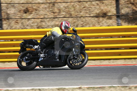 Superbike #59 stock photo, High speed Superbike on the circuit  by Sean Nel