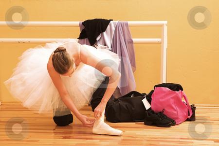 Dancer #1 stock photo, Ballet Dancer preparing for practice by Sean Nel