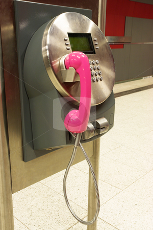 Munich #45 stock photo, A diryt public payphone in a trainstation. by Sean Nel