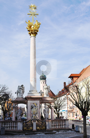 Straubing #1 stock photo, The Trinity Column in Straubing, Bavaria, Germany by Sean Nel