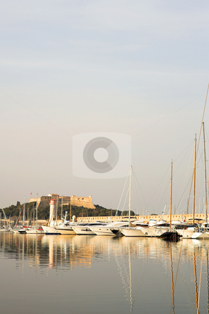 Antibes #286 stock photo, A harbor  in Antibes, France.  Copy space. by Sean Nel