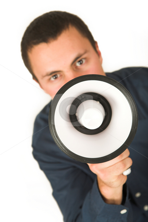 Franscoisbooysen #171 stock photo, Man with Megaphone  by Sean Nel