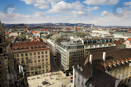Vienna #63 stock photo, The Vienna Skyline from the St Stephans DOM in Austrai, Europe by Sean Nel