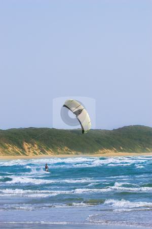 Sudwana #16 stock photo, A kite surfer surfing in Sudwana, South Africa by Sean Nel