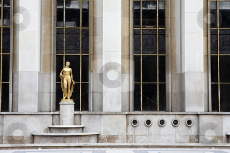 Paris #62 stock photo, An old building with golden statues in Paris, France. by Sean Nel