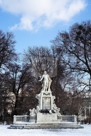 Vienna #1 stock photo, Mozart Memorial in Vienna, Austria - copy space by Sean Nel