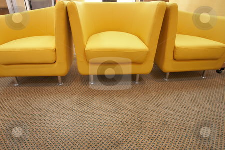 Three yellow chairs