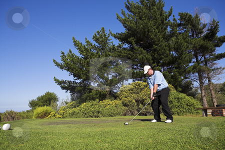Golf #41 stock photo, Man playing golf. by Sean Nel