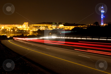 Nightlife #6 stock photo, Building of University of South Africa  in Pretoria, South Africa at night time by Sean Nel
