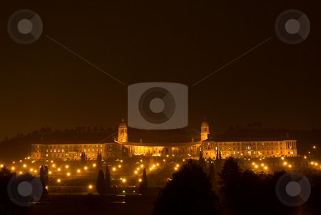 Nightlife #2 stock photo, Unionbuildings in Pretoria, South Africa at night time - copy space by Sean Nel