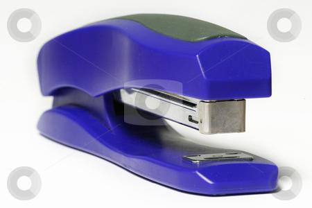 Blue Stapeler stock photo, Blue staple gun by Sean Nel