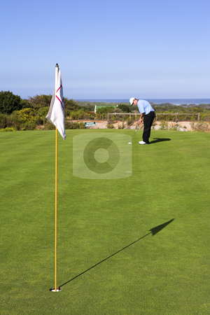 Golf #33 stock photo, Man playing golf. by Sean Nel