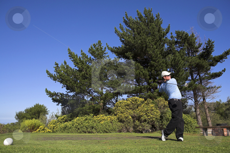 Golf #44 stock photo, Man playing golf. by Sean Nel