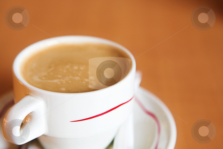 Coffee Cup #15 stock photo, Creamy Coffee in white cup and brown background - Shallow DOF by Sean Nel