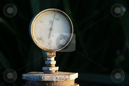 Water presure  stock photo, Water pressure gauge by Sean Nel