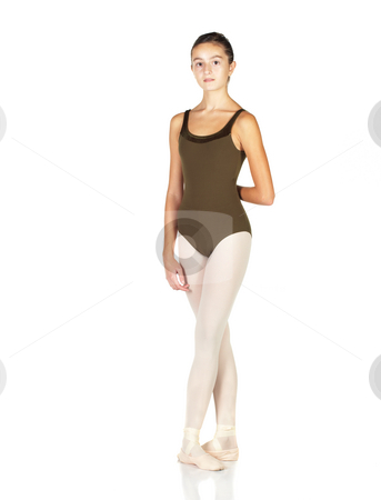 Young Ballet Dancer stock photo, Young female ballet dancer showing various classic positions on a white background. NOT ISOLATED by Sean Nel