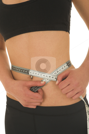 Gymbunny #39 stock photo, Woman with measuring tape by Sean Nel