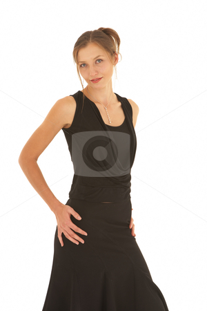 Beautiful Caucasian businesswoman stock photo, Portrait of a beautiful young Caucasian businesswoman on white background. NOT ISOLATED by Sean Nel