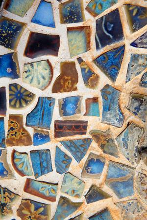 Broken mosaic tile background stock photo, Colorful broken mosaic tile background by Sean Nel