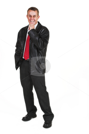 Business man #4 stock photo, Business man in a suit by Sean Nel