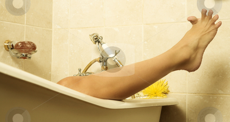 Woman #166 stock photo, Nude woman in a bath. by Sean Nel