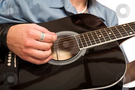 David Badenhorst #4 stock photo, Young man with guitar. by Sean Nel