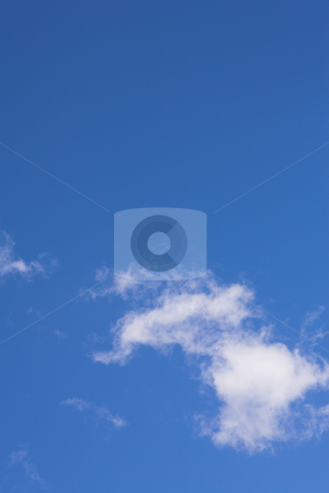 Blue Sky and Clouds #1 stock photo, Blue sky and white puffy clouds - For use as fill in backgrounds in designs and photo retouching by Sean Nel