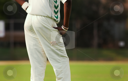 Cricket #1 stock photo, Cricketers playing in the late afternoon by Sean Nel