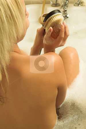 Woman #164 stock photo, Nude woman in a bath. by Sean Nel