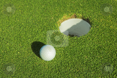 Golfer #35 stock photo, A golf ball on the green. by Sean Nel