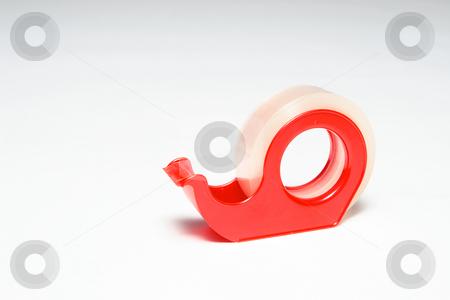 Stickytape #1 stock photo, Red Stickytape Holder on white by Sean Nel