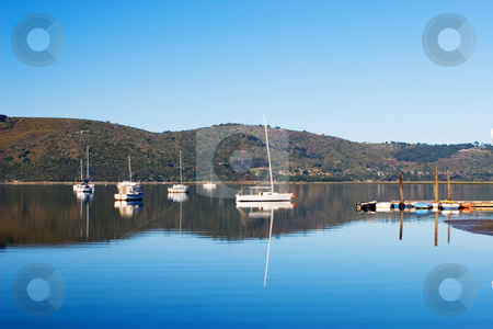 Harbour #14 stock photo, Boats at Knysna Harbour, South Africa by Sean Nel