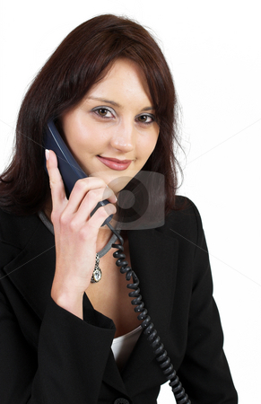 Business Lady #51 stock photo, Business woman on the telephone by Sean Nel